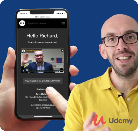 B2B Lead Generation via Personalised Sales Videos & LinkedIn - Udemy course